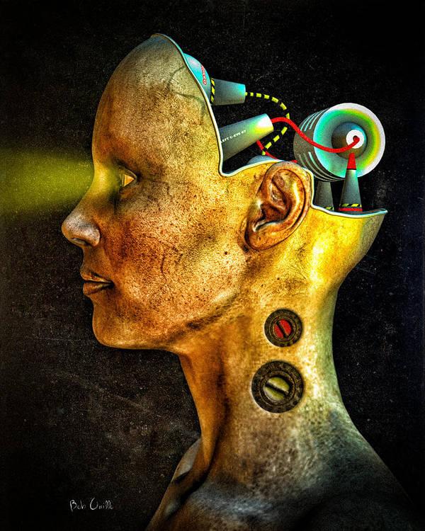 Pythia Poster featuring the digital art Pythia by Bob Orsillo