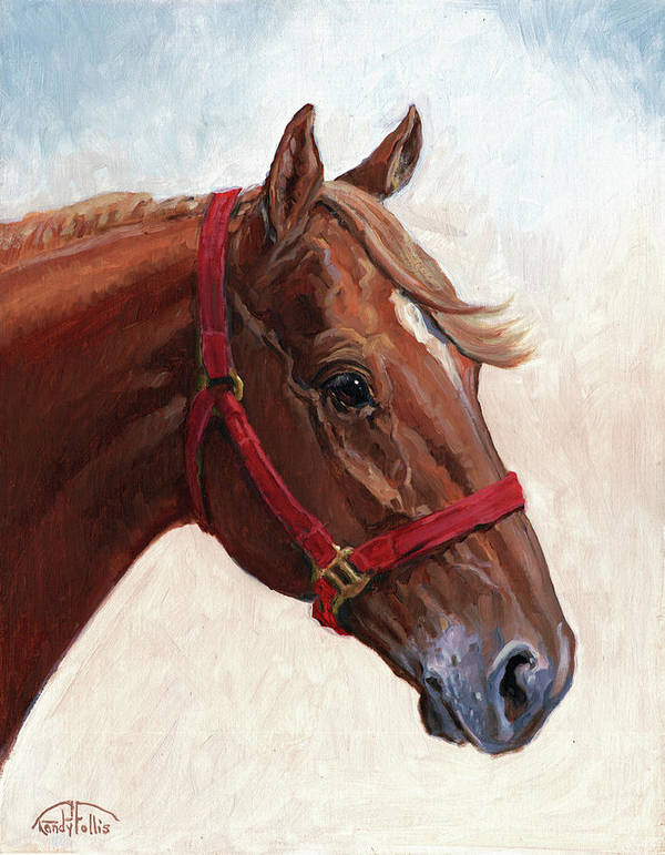 Horse Poster featuring the painting Quarter Horse by Randy Follis