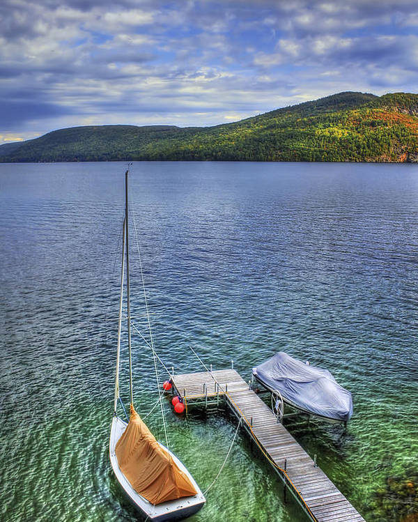 Adirondacks Poster featuring the photograph Quiet Jetty by Evelina Kremsdorf