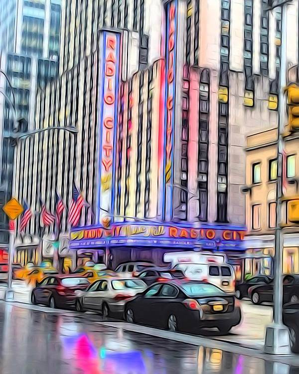 New York Poster featuring the photograph Radio City Music Hall New York City - 2 by Becca Buecher