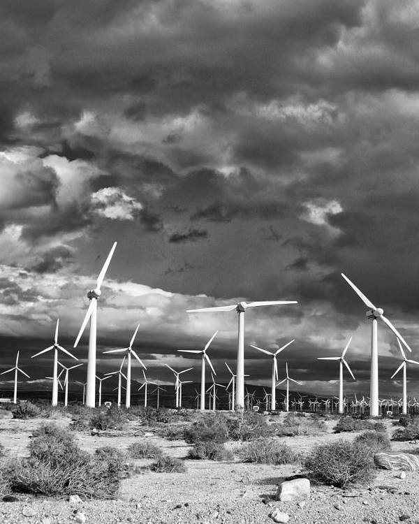 Windmills Poster featuring the photograph Rage Of The Wind Palm Springs by William Dey