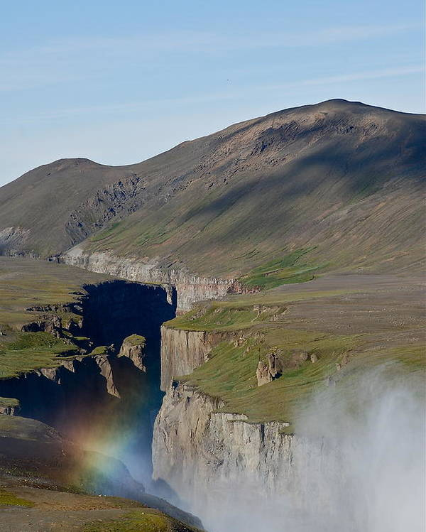 Canyon Poster featuring the photograph Rainbow by Erlendur Gudmundsson