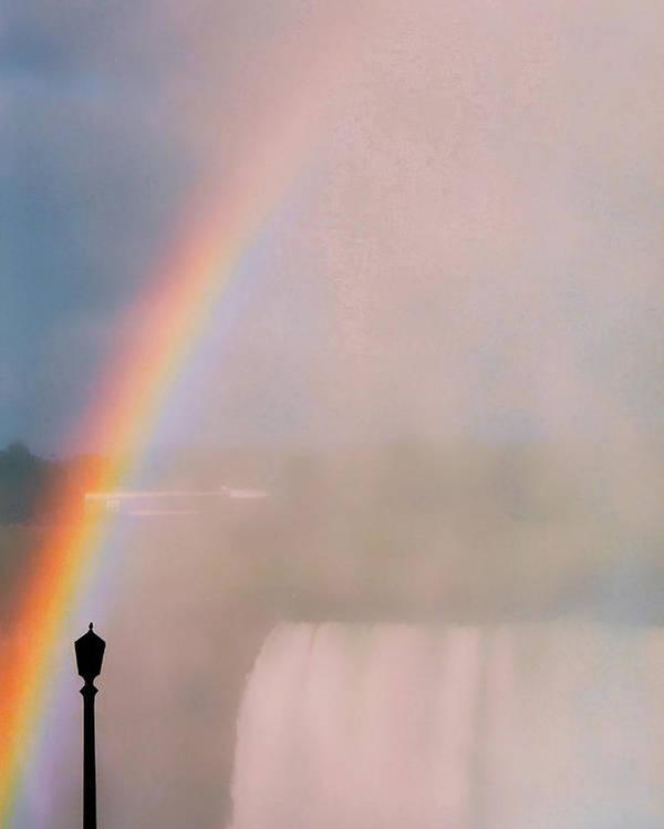 Rainbow Poster featuring the photograph Rainbow Falls by Pharris Art