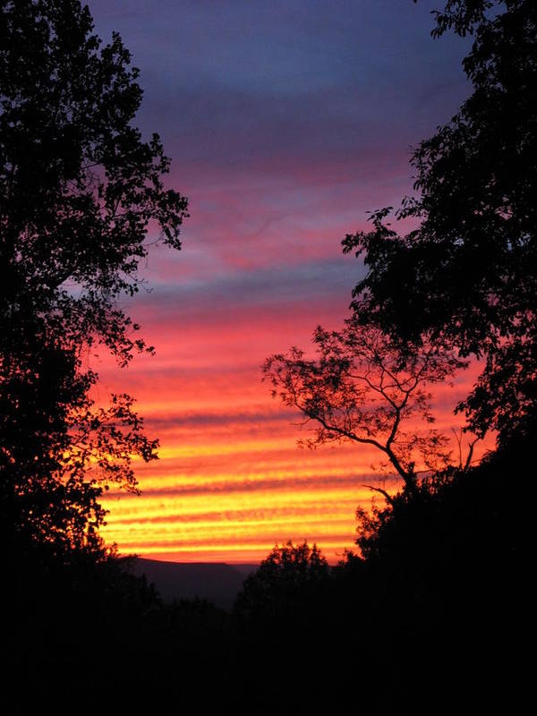 Sunset Poster featuring the photograph Rainbow Sunset by Laura Corebello