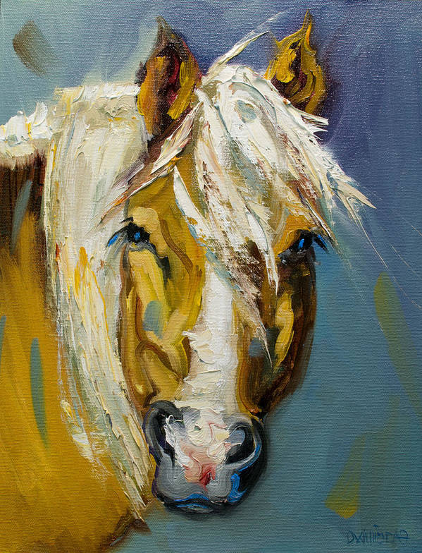 Horse Poster featuring the painting Ranch Horse by Diane Whitehead