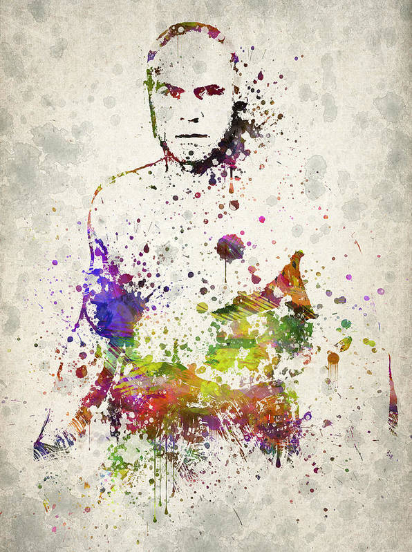 Randy Couture Poster featuring the drawing Randy Couture by Aged Pixel