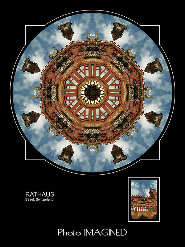 Kaleidoscope Poster featuring the digital art Rathous by Mike Johnson