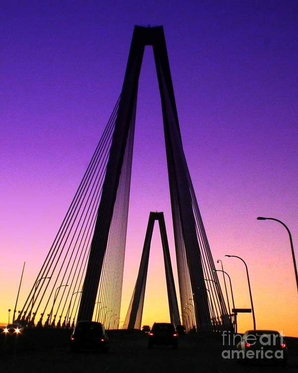 Bridges Poster featuring the photograph Gateway To Southern Charm by Scott Cameron