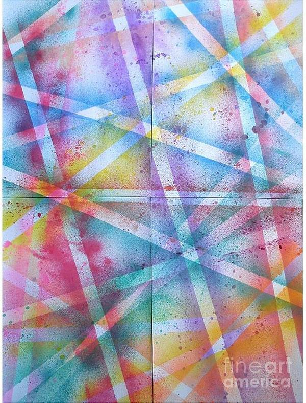 Watercolor Poster featuring the painting Ray Of Lights by Anya Restiana
