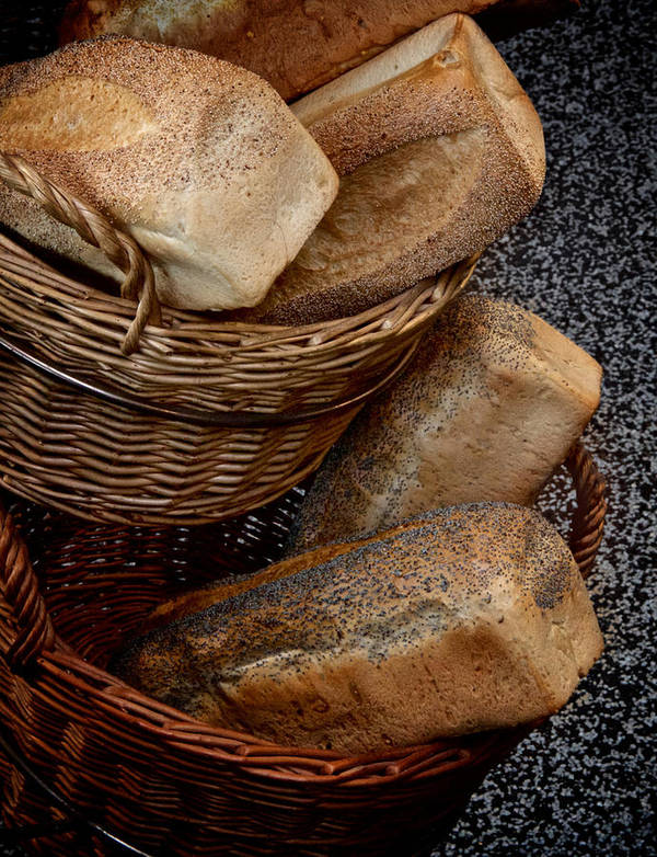 Bread Poster featuring the photograph Real Bread by Odd Jeppesen