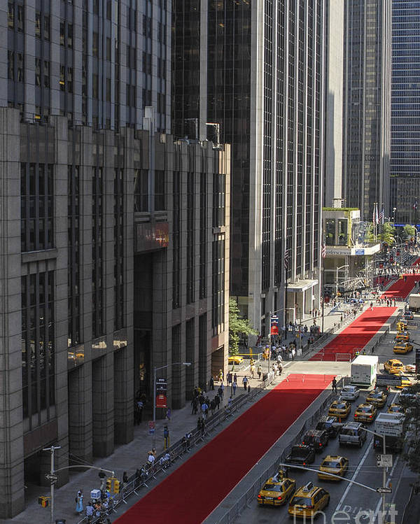 Red Carpet Poster featuring the photograph Red Carpet On 6th Ave by Zbigniew Krol