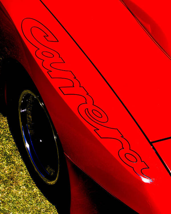 Porsche Carrera Poster featuring the photograph Red Carrera by Phil 'motography' Clark