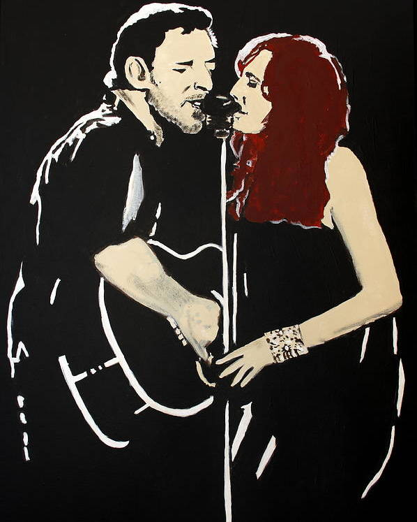 Bruce Springsteen Poster featuring the painting Red Headed Woman by Carmencita Balagtas