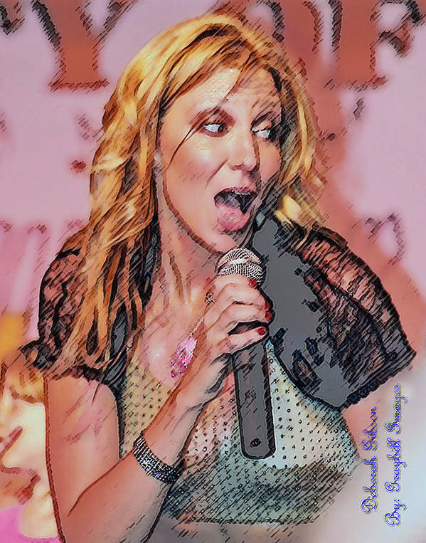 Debbie Gibson Poster featuring the photograph Red Hot by Brian Graybill
