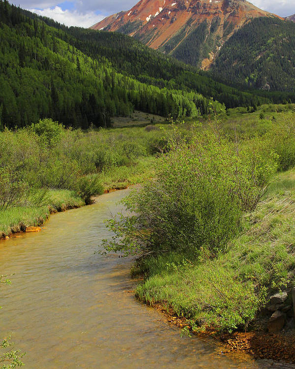 Red Mountain Creek Poster featuring the photograph Red Mountain Creek - Colorado by Mike McGlothlen