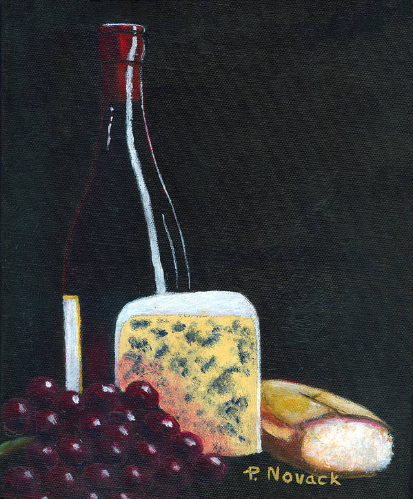 Wine Poster featuring the painting Red Red Wine by Patricia Novack