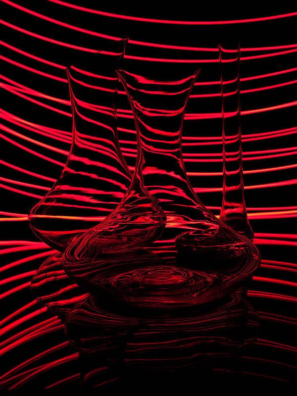 Abstraction Poster featuring the photograph Red Rhythm IIi by Davorin Mance