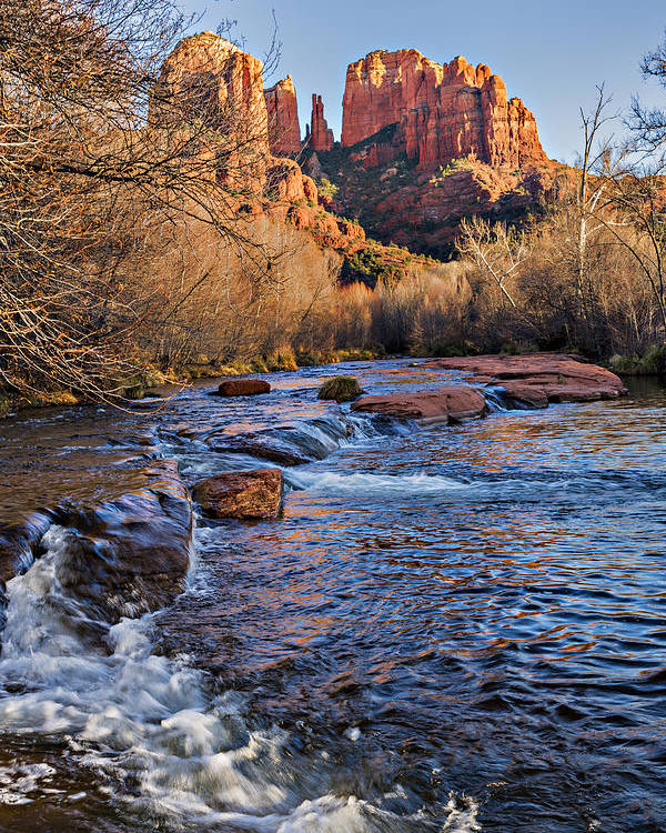 Arizona Poster featuring the photograph Red Rock Crossing Winter by Mary Jo Allen