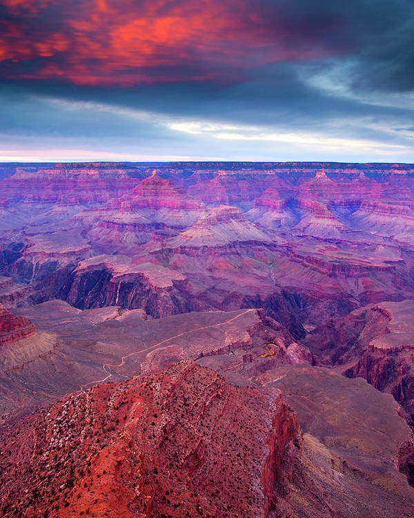 Grand Canyon Poster featuring the photograph Red Rock Dusk by Mike Dawson