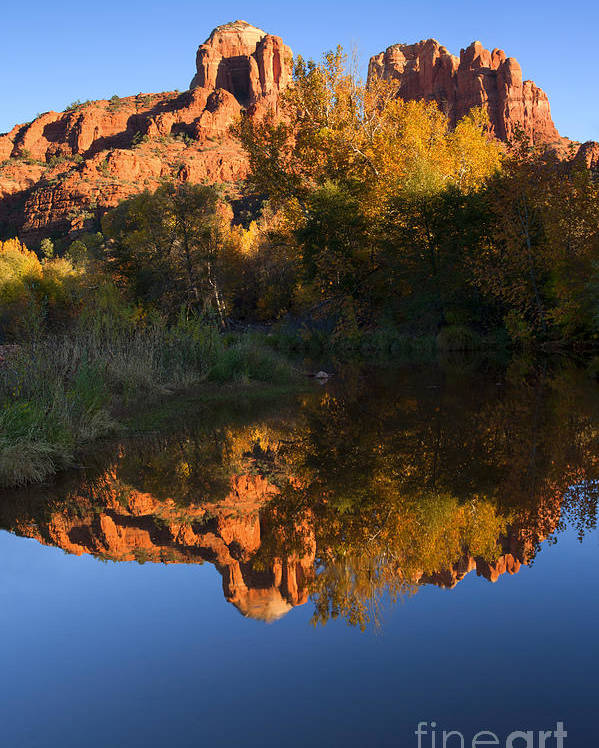 Sedona Poster featuring the photograph Red Rock Reflections by Mike Dawson