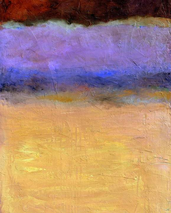 Lake Poster featuring the painting Red Sky by Michelle Calkins