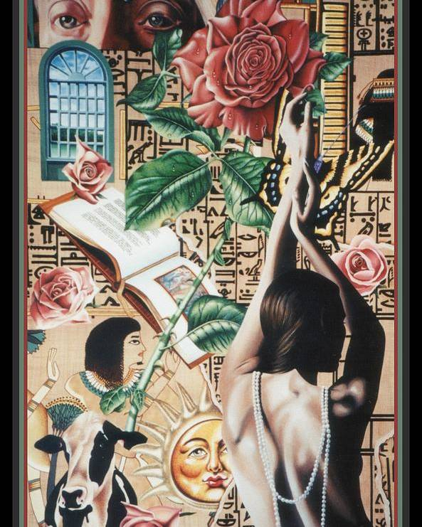 Symbolism Poster featuring the painting Reign Of Roses by Nancy M Garrett