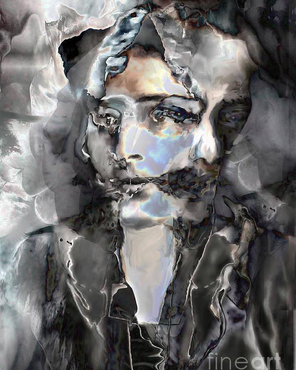 Ursula Freer Poster featuring the digital art Reincarnation by Ursula Freer