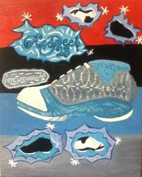 Michael Poster featuring the painting Respect 23 by Mj Museum