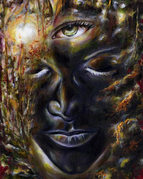 Eye Poster featuring the painting Revelation by Hiroko Sakai