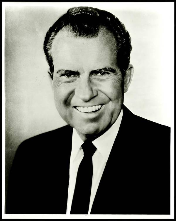 President Poster featuring the photograph Richard M Nixon by Benjamin Yeager