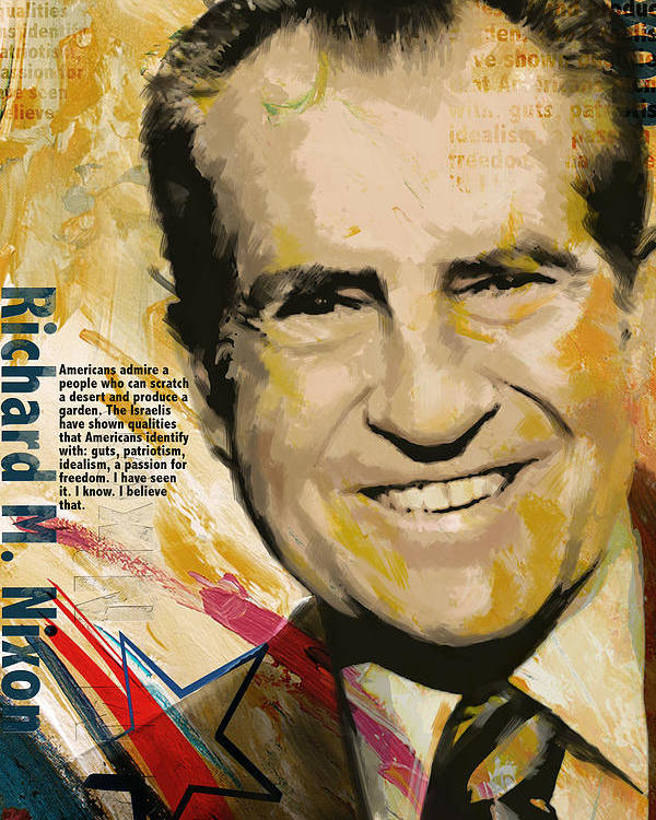 Richard Nixon Poster featuring the painting Richard Nixon by Corporate Art Task Force
