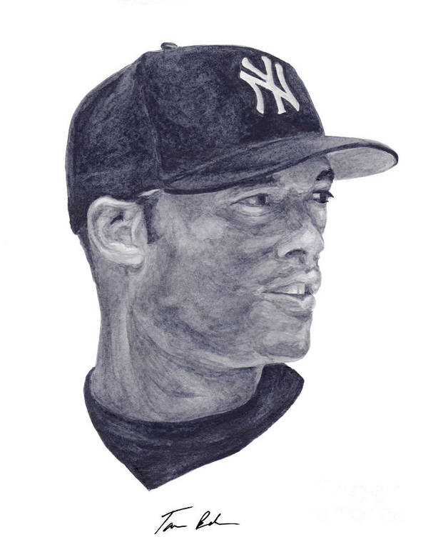 Mariano Rivera Poster featuring the painting Rivera by Tamir Barkan