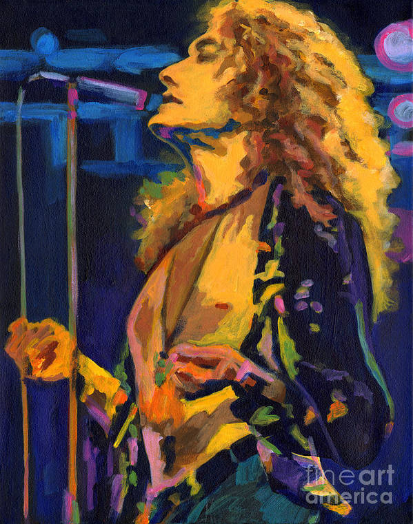 Tanya Filichkin Poster featuring the painting Robert Plant. Kashmir by Tanya Filichkin