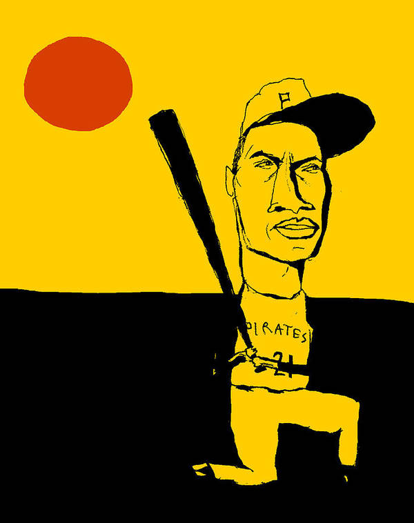 Roberto Clemente. Pittsburgh Pirates Poster featuring the painting Roberto Clemente Pittsburgh Pirates by Jay Perkins