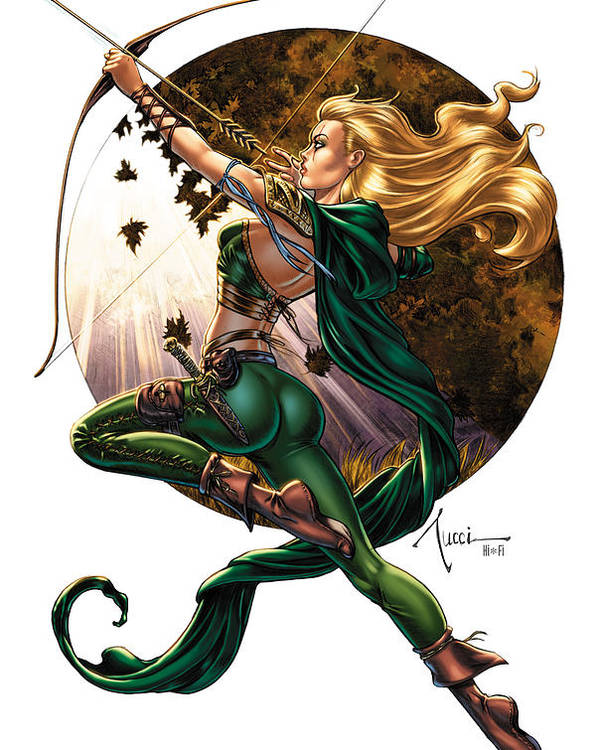 Grimm Fairy Tales Poster featuring the drawing Robyn Hood 01h by Zenescope Entertainment