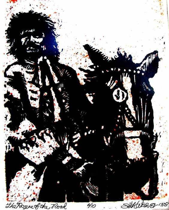 English Highwayman Poster featuring the mixed media Rogue Of The Road by Seth Weaver