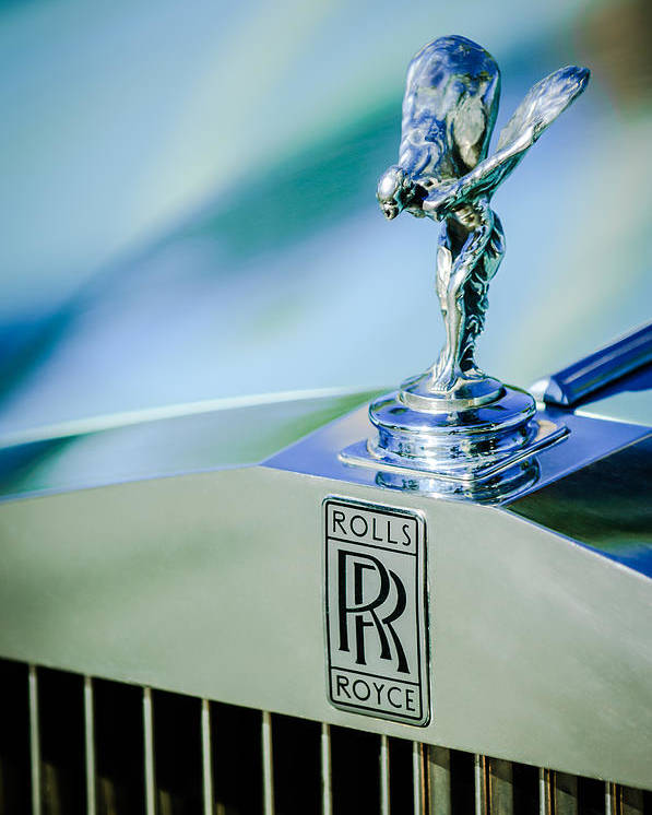 Rolls-royce Hood Ornament Poster featuring the photograph Rolls-royce Hood Ornament -782c by Jill Reger
