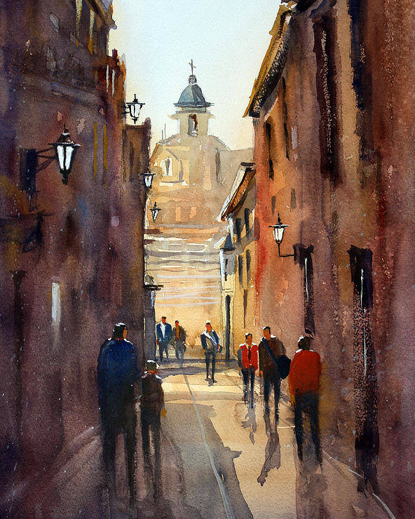 Ryan Radke Poster featuring the painting Rome by Ryan Radke