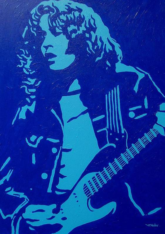 Acrylic Poster featuring the painting Rory Gallagher by John Nolan