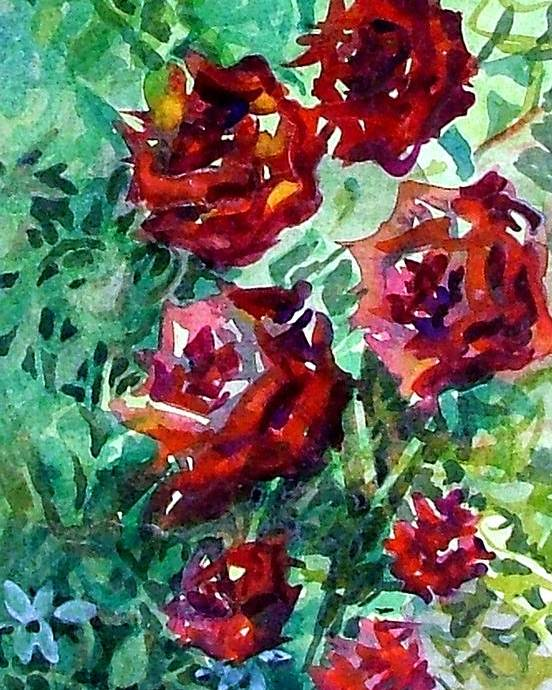 Rose Poster featuring the painting Roses by Mindy Newman