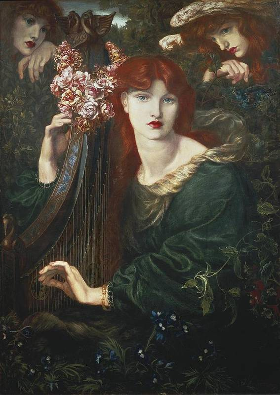 Vertical Poster featuring the photograph Rossetti, Dante Gabriel 1828-1882. La by Everett
