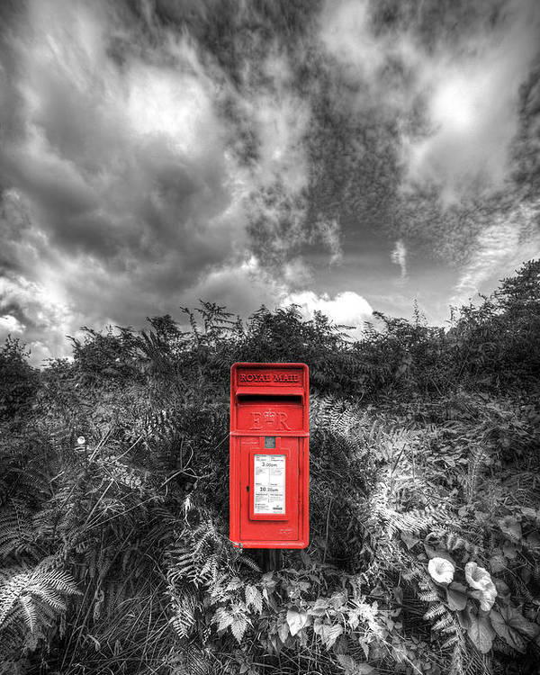 Mail Poster featuring the photograph Rural Post Box by Mal Bray
