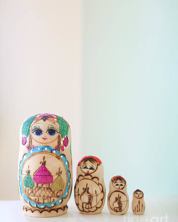 Russian Poster featuring the photograph Russian Dolls by Evelina Kremsdorf