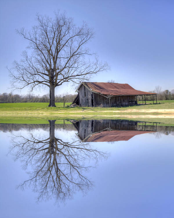 Rustic Poster featuring the photograph Rustic Barn by David Troxel