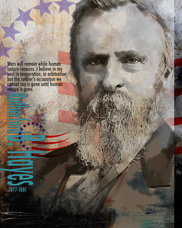 Rutherford B. Hayes Poster featuring the painting Rutherford B. Hayes by Corporate Art Task Force
