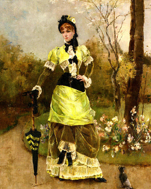 Alfred Stevens Poster featuring the digital art Sa Majeste La Parisienne by Alfred Stevens