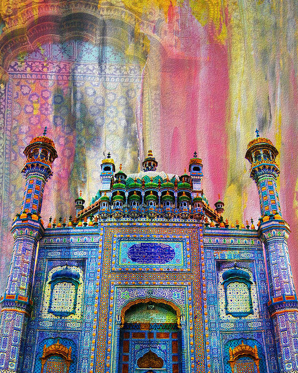 Pakistan Poster featuring the painting Sachal Sarmast Tomb by Catf