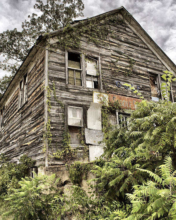 Rustic Poster featuring the photograph Saddle Store 2 Of 3 by Jason Politte