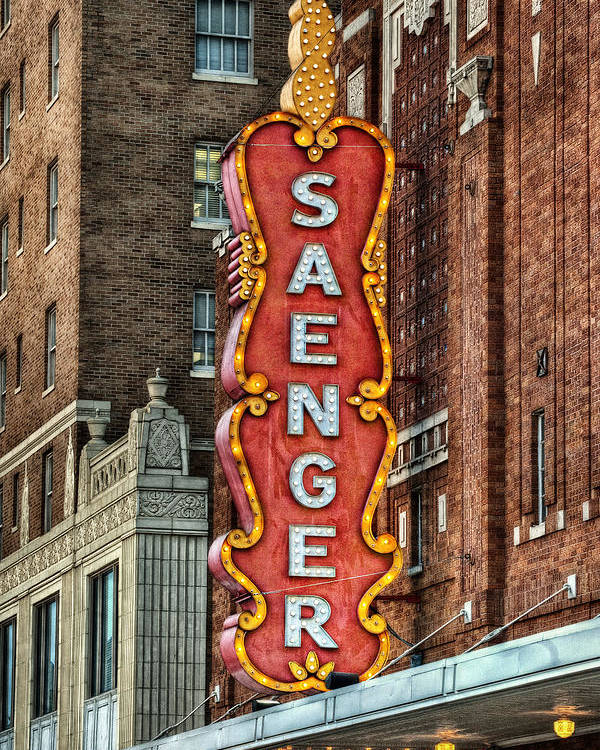 Saenger Poster featuring the photograph Saenger by Brenda Bryant