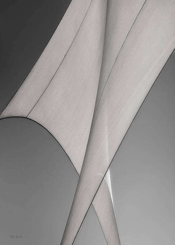 Abstract Poster featuring the photograph Sailcloth Abstract Number 3 by Bob Orsillo